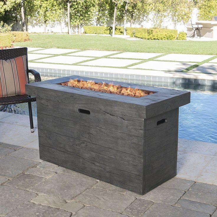 Best 25 Rectangular Fire Pit Ideas On Pinterest Outdoor
