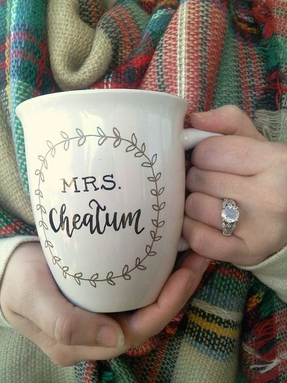 custom personalized 'mrs. new last name' by theapothecarybee