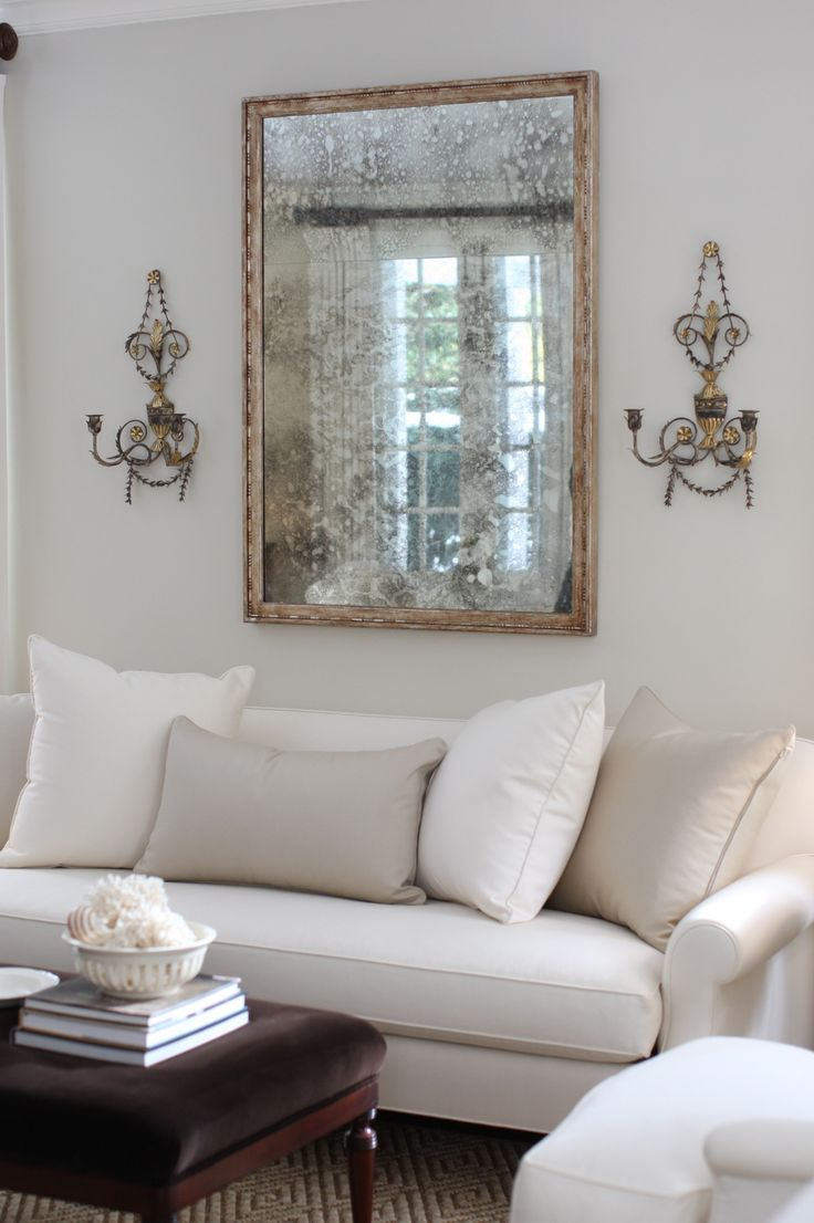 J k kling used our corday mirror in venetian silver leaf - Pictures of mirrors in living rooms ...