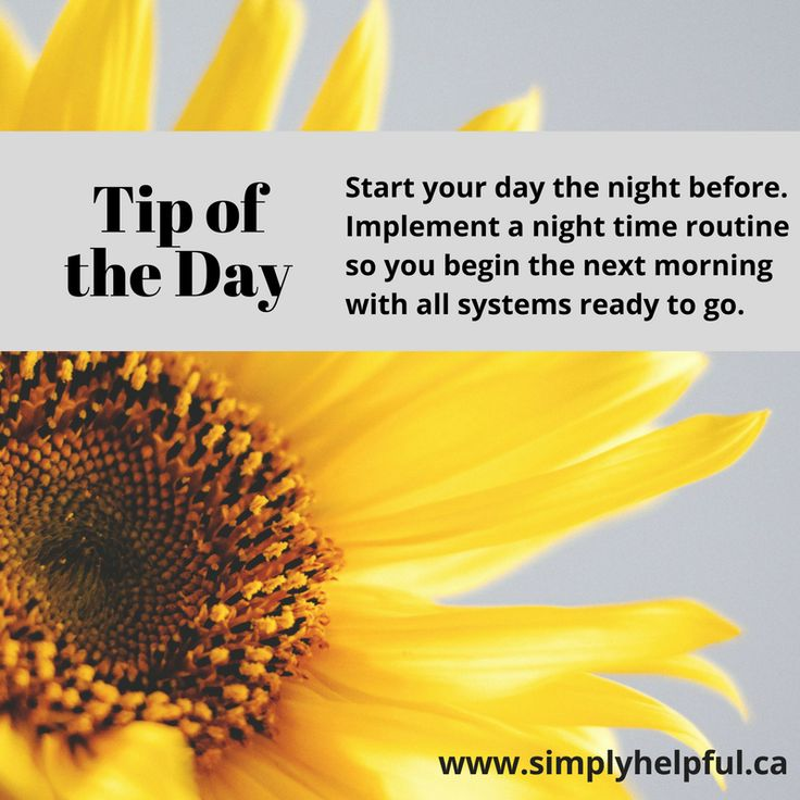 Simply helpful daily tips for living your best life. Tips of the day run the gamut from time management and life balance to decluttering and organizing.