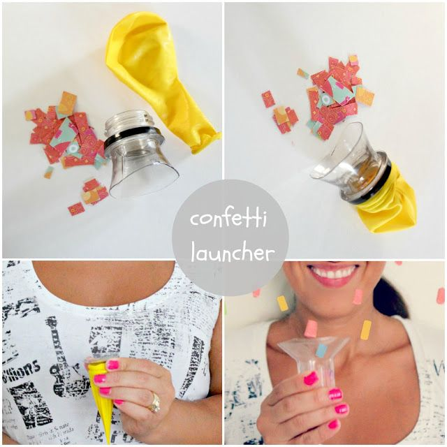 confetti launcher.  hmmm.... maybe incorporate this concept into an april fool's day craft?