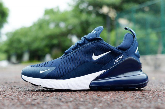 nike 270 navy blue and white