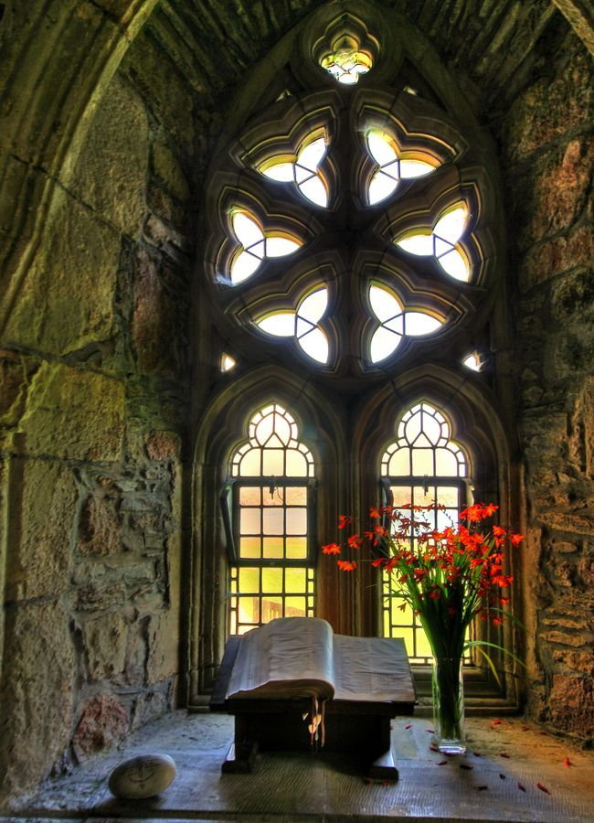 Iona Abbey was a focal point for the spread of Christianity throughout Scotland.