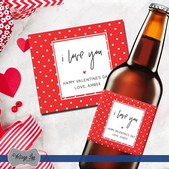 Valentines Day Beer Labels, Valentines Day Gift for Him, Valentines Day Gift for Husband, Valentines Beer Label, Valentines Day Gift for Her  Valentines beer labels make a great gift for that special someone in your life. These custom beer labels are perfect for any type of beer
