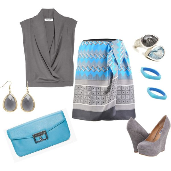 gray and blue ..., created by daizeydee33 on Polyvore: Conservation Clothing, Fashion, Office Attire, Offices Attire, Colors, Offices Girls, Attire Cynthiawhiteandassoci, Offices Business, All The Beautiful Stylespir