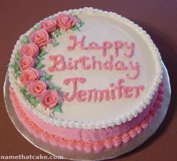 happy birthday Jennifer cake