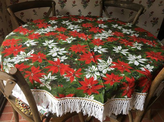 Christmas Cream Ivory Embroidered Poinsettia Towel NWT $17
