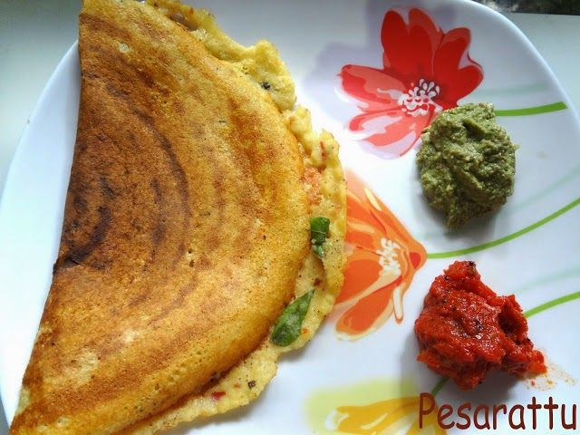 Pesarattu....Idli,  dosa , chutney Recipes at a glance