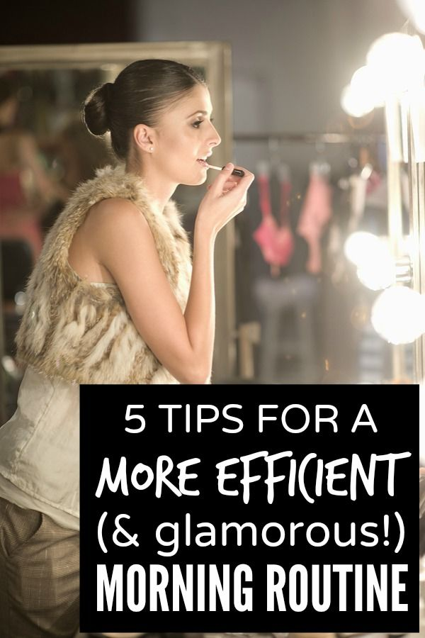 If you like to look your best each day, but consistently struggle to make it out of the house on time, this collection of 5 tips for a more efficient (& glamorous) morning routine is just what you need!