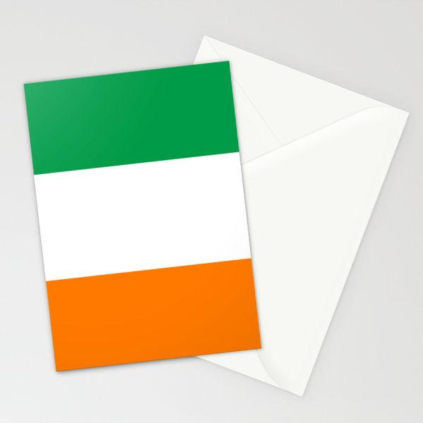 National flag of the Republic of Ireland - Authentic 3:5 Version Stationery Cards by LonestarDesigns2020 - Flags Designs + | Society6