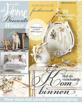 ariadne at Home Brocante winter 2013 #magazine #cover #brocante #shabby