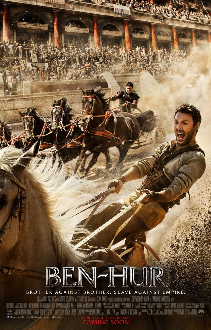 Ben-Hur (2016) New Poster.... this movie is ok ,even if it is not accurate with the book. Still I liked it and how it was made.