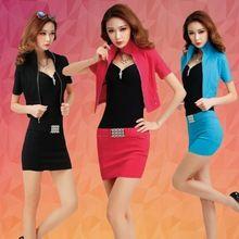 Adatti a nuovo sexy assistente di volo uniformi abbigliamento da lavoro con donne di alta qualità ufficio lavoro formale vestito(China (Mainland))
