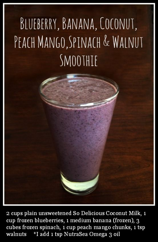 Blueberry, Banana, Coconut, Peach Mango, Spinach & Walnut Smoothie - Liver cleansing diet raw food recipes - Learn how to do a liver flush https://www.youtube.com/watch?v=e2SxDemOO54 I LIVER YOU