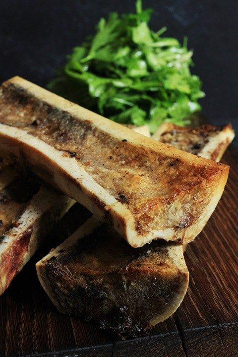 Roast Bone Marrow with Parsley and Sorrel Salad