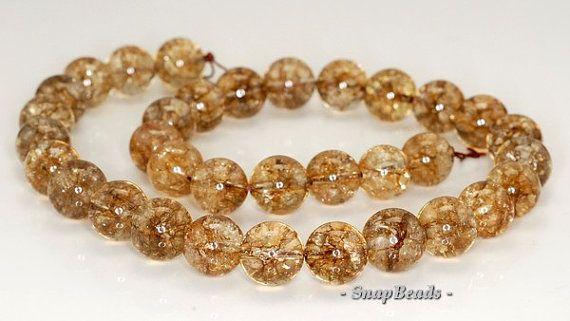 12mm Smoky Quartz Gemstone Round Loose Beads 7 inch Half Strand (90191359-B11-520)