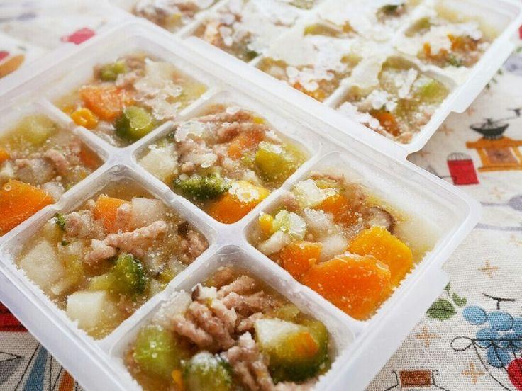 離乳食中期~!簡単作り置き野菜スープ by 葡萄月 [クックパッド] 簡単おいしいみんなのレシピが232万品