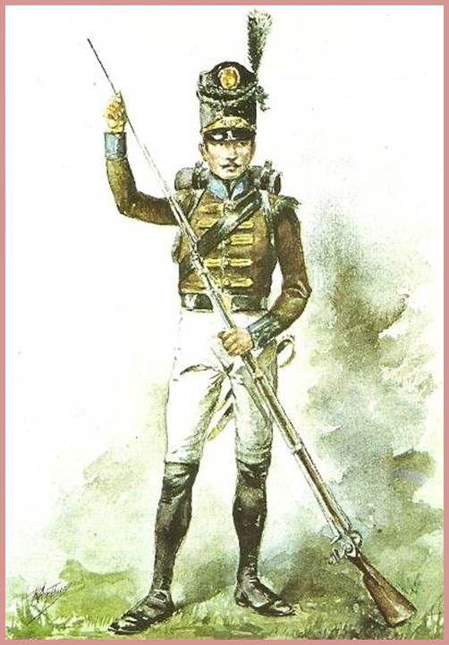 Soldat Portugais Du 4º Bataillon de CAÇADORES BEIRA 1811