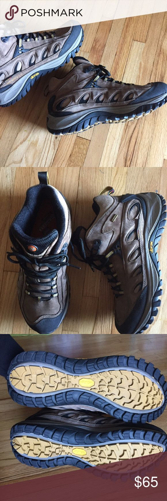 Merrell Radius hiking boots Men's waterproof hiking boots• excellent condition- very lightly worn twice• no damage/ signs of wear Merrell Shoes Rain & Snow Boots