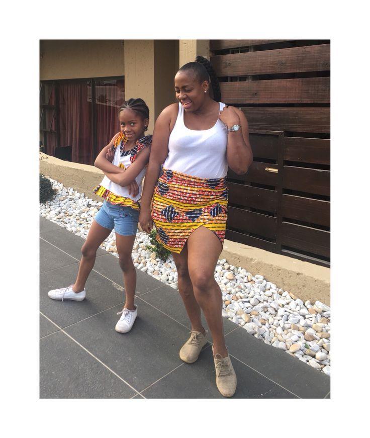 AfricanPrint Mini Skirt Mother & daughter style