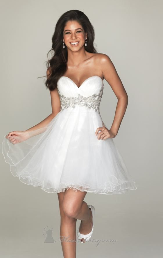 2017 Style A Line Sweetheart Pattern Sleeveless Short Mini Organza White Tail Dress Homecoming Maybe For Reception