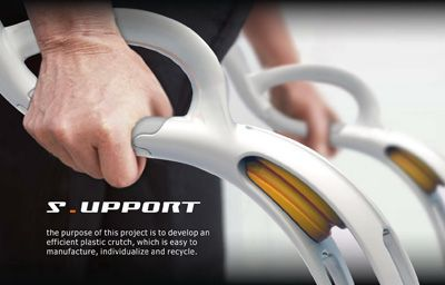 support plastic crutch