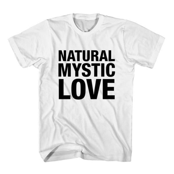 T-Shirt Natural Mystic Love unisex mens womens S, M, L, XL, 2XL color grey and white. Tumblr t-shirt free shipping USA and worldwide.