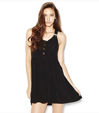 Buckle Front Placket Dress