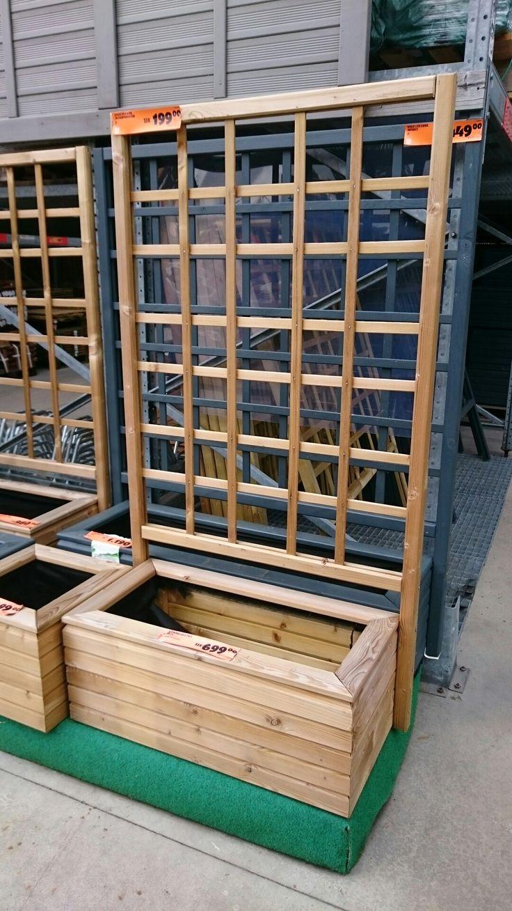Hornbach låda med spaljé