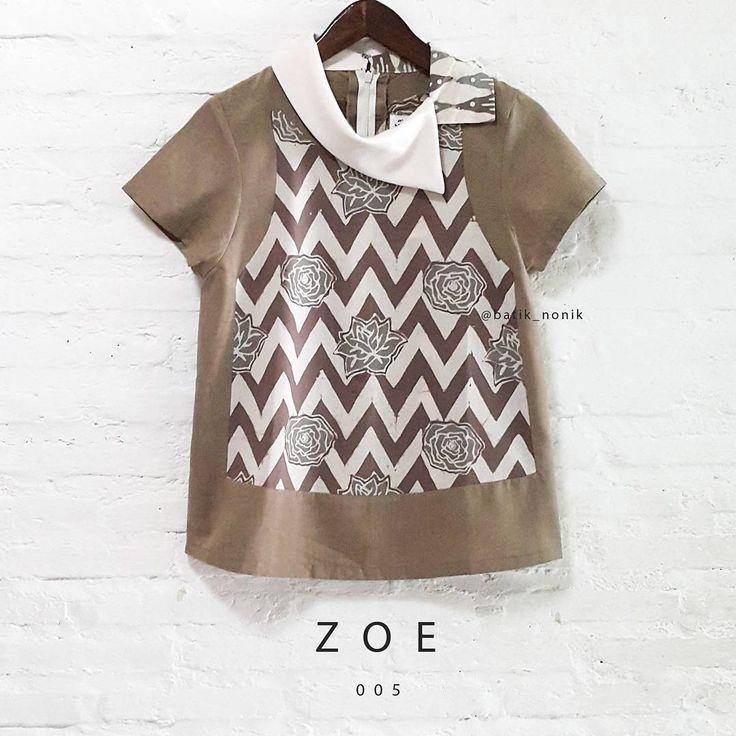 Ready to be yours   ZOE005   now availbale online   www.nonandnik.com  #batik #batikindonesia #fashionbatik #modernbatik #contemporarybatik #batikblouse #batikshop #ootdbatik #readytowear #localbrandindonesia #onlineshop #batiknonik #nonandnik