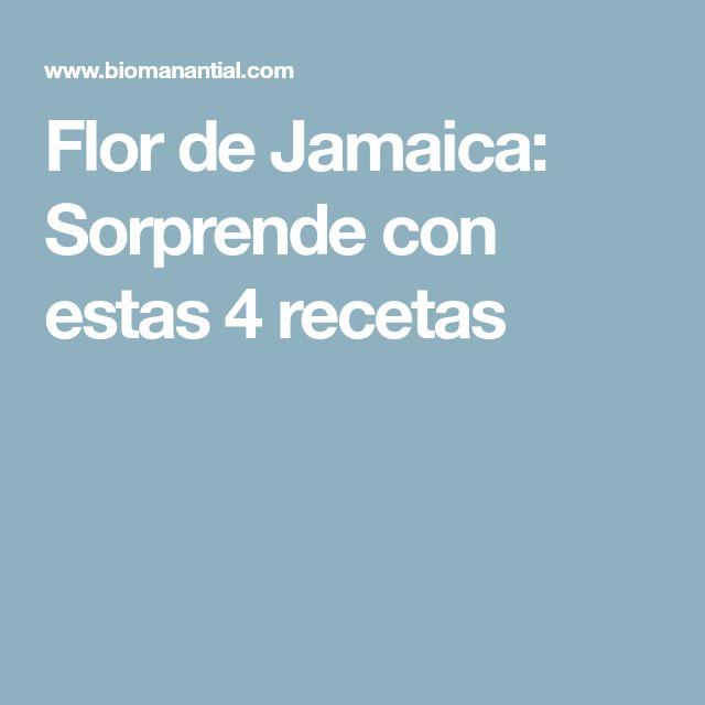 Flor de Jamaica: Sorprende con estas 4 recetas