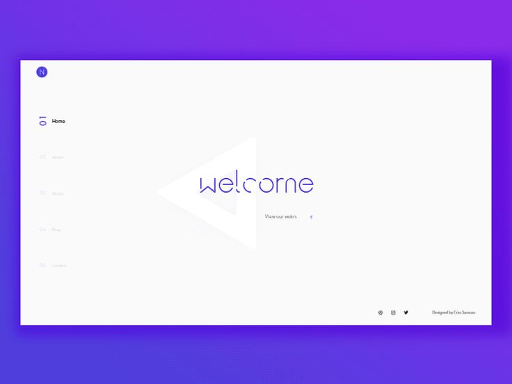 Personal landing page of PSD template