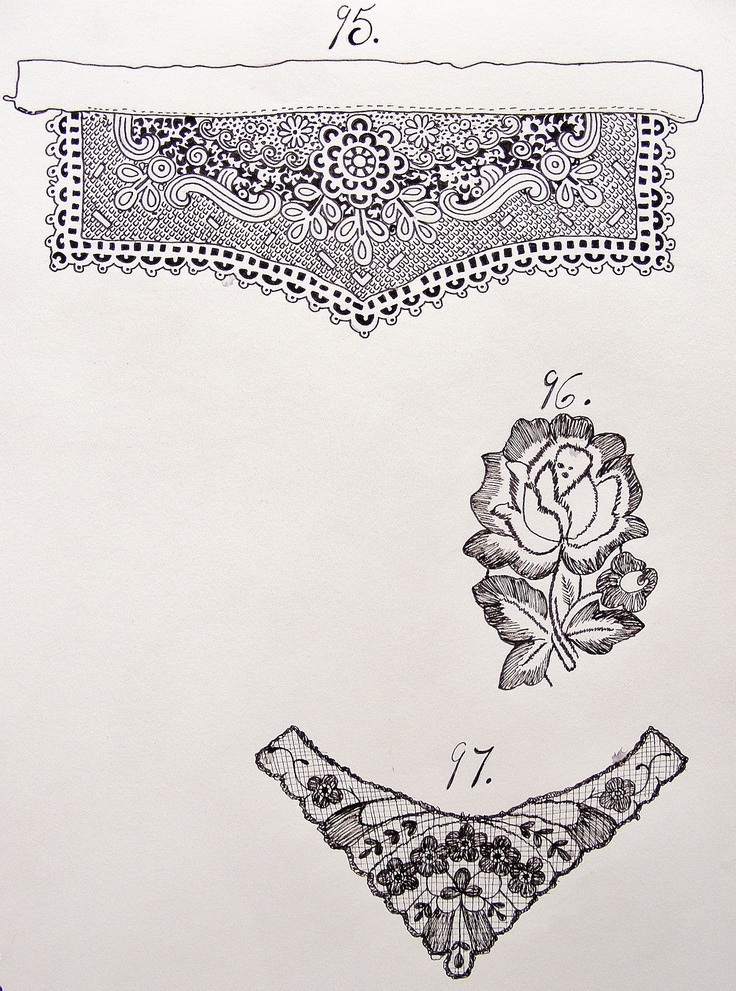 lace drawing pattern - photo #14