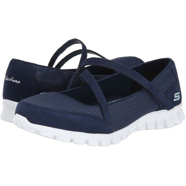 SKECHERS A-Game Women's Shoes, Navy (150 BRL) ❤ liked on Polyvore featuring shoes, navy, mary jane shoes, navy mary janes, skechers, skechers mary janes and lightweight shoes