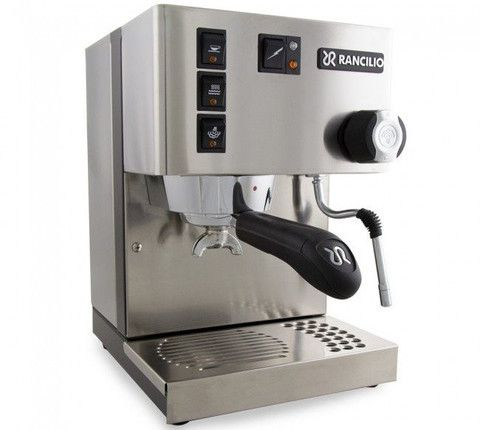 The machine's linear design evokes the famous Rancilio professional coffee machines that have inspired Silvia and always guaranteed the very finest quality espresso. Sold at Half Full.