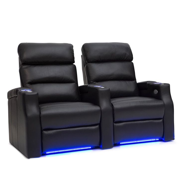 Barcalounger Matrix Leather Home Theater Seating Power Recline - Row of 2,