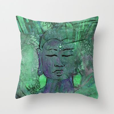 Everybody needs a Buddha pillow! I picture this throw amongst a garden of other greens in a white room filled with light. ✩ Queer Buddha by JAMILA
