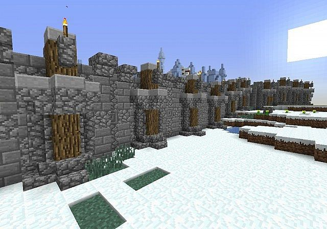 minecraft village wall designs - Google Search