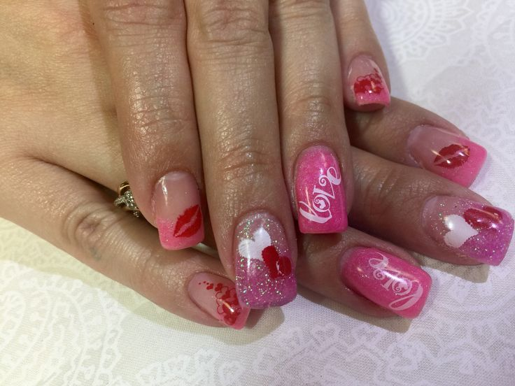 valentine nails valentines gel nails gel nail valentines day valentines day valentine nail art valentine cards