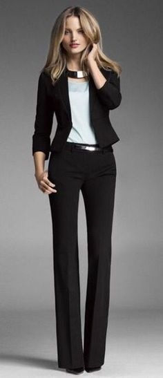 This epitomizes my work look. Either slacks or blue jeans paired with a simple top and blazer (or cardigan). Simple, classic...and I really need to venture outside this. *sigh*