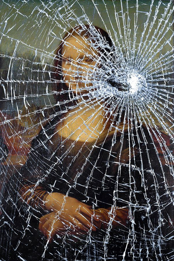 best mona lisa gives me smiles images mona lisa  mona lisa shattered art print by the learning curve photography