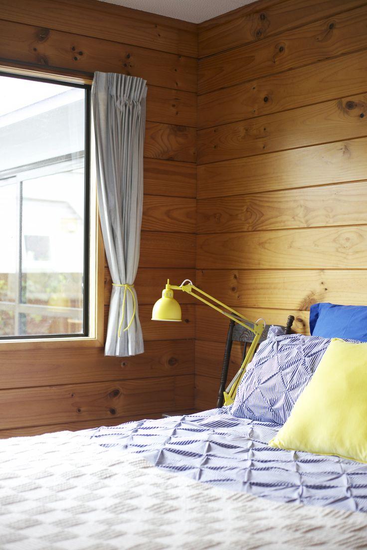 Styling by #placesandgraces - lamp @freedomnz  #lockwood #blueandyellow #bedroom