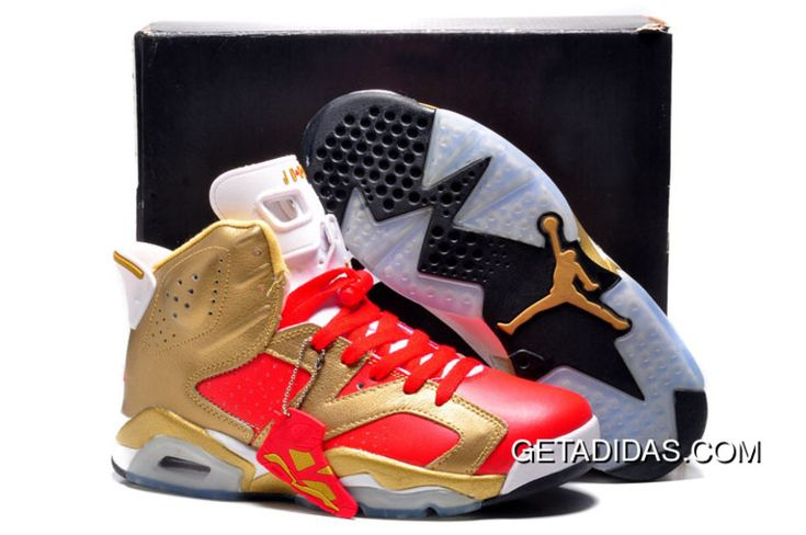 http://www.getadidas.com/air-jordan-6-gold-red-black-topdeals.html AIR JORDAN 6 GOLD RED BLACK TOPDEALS Only $78.79 , Free Shipping!