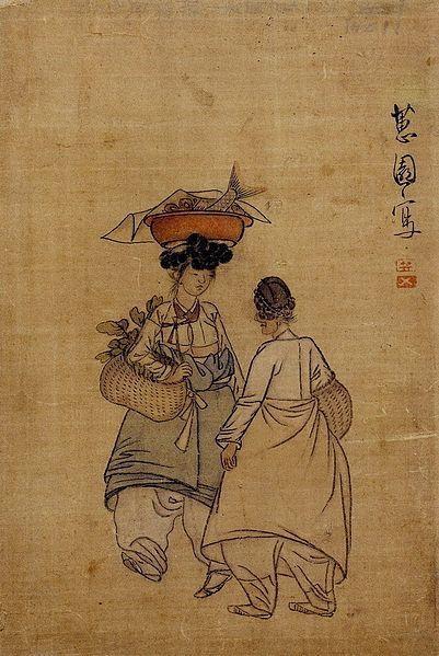 (Korea) by Shin Yun-bok (1758~   ). aka Hyewon. ca 18th century CE. Joseon Kingdom, Korea.
