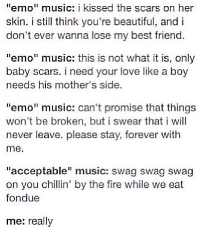 Why??!!!!<<<Because nobody likes stupid wannabe meaningful lyrics sing by people who can't sing