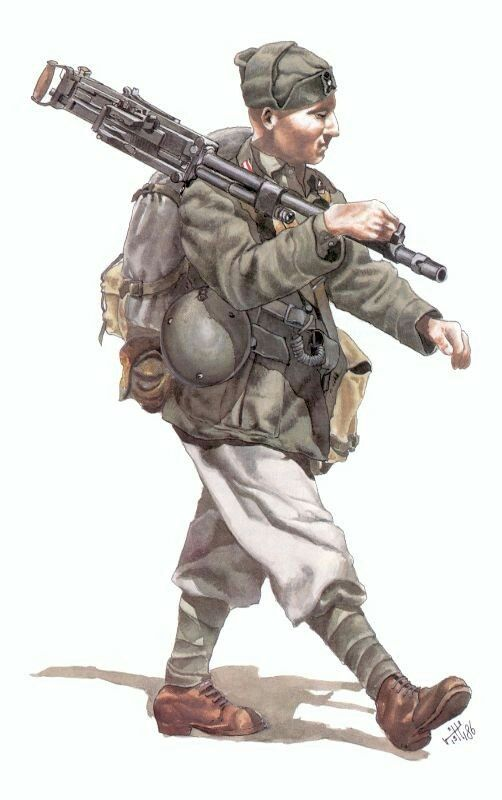 """Italian Army WW2 -Mitragliere 31° Reggimento fanteria divisione """"Ravenna"""", pin…"""