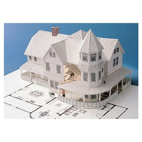 Build a detailed, three-dimensional scale model of your own home, addition or remodeling project the way architects do. The 3-D Home Kit provides comp