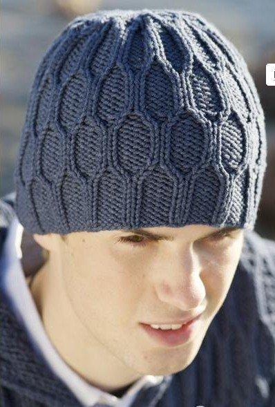 мужская шапка спицами - Самое интересное в блогах