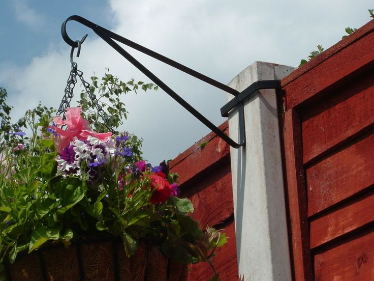 Concrete fence posts are great for attaching hanging baskets to http://www.avsfencing.co.uk/fencing/posts/concrete/