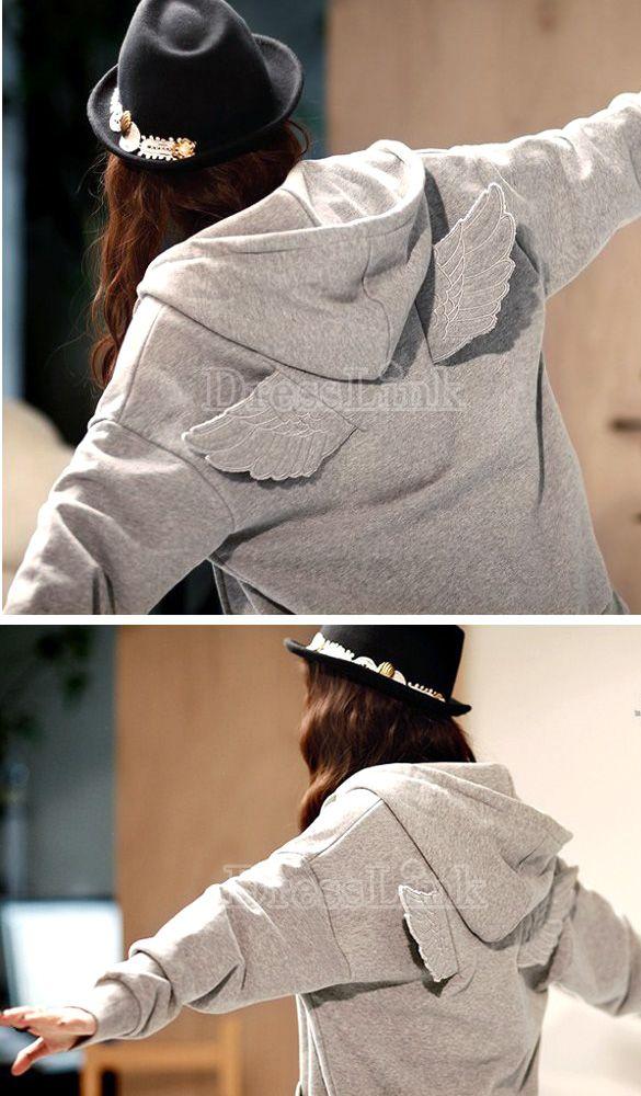 Mode coréenne Wings Veste Blouson à capuche manteau en tête de vêtements d'extérieur